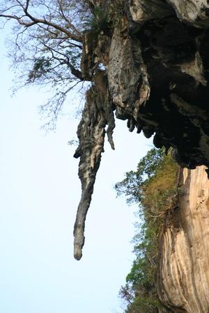 stalagtite on Ton Sai - Thailand
